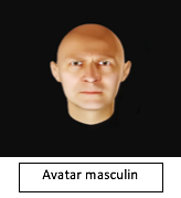 avatar masculin reconnaissance faciale