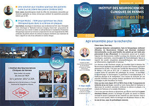 la première newsletter de l'INCR